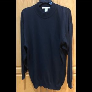 Perry Ellis Mens Black Crewneck Sweater Size XL